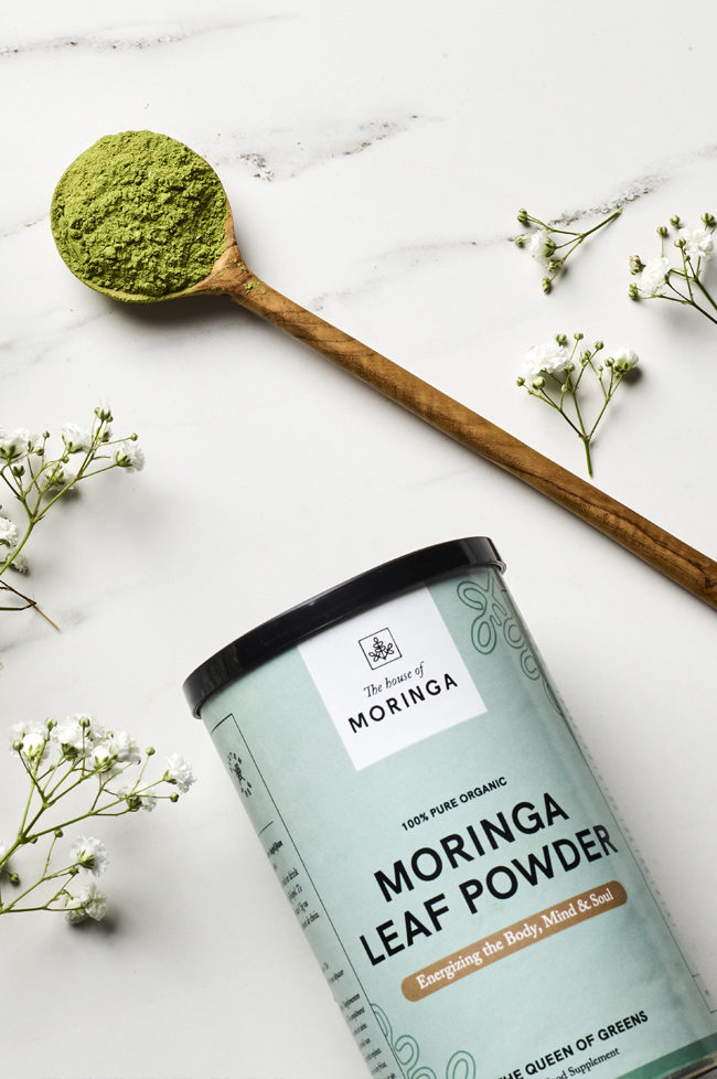 the house of moringa projects designed by laura dreyfus - branding - packaging design - social media graphics - website design on shopify
